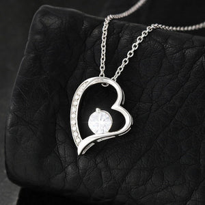 To My Mom - I Love You So Much Heart Necklace