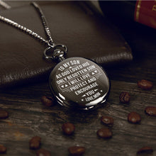 Mom To Son - I Will Protect And Encourage You Pocket Watch