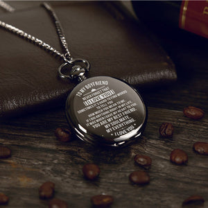 To My Boyfriend - Never Forget That I Love You Pocket Watch