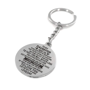 Dad To Daughter - I Promise To Love You Personalized Keychain