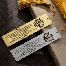 Bookmark Dad To Son - I Will Always Be There For You Personalized Bookmark With Tassel Silver GiveMe-Gifts