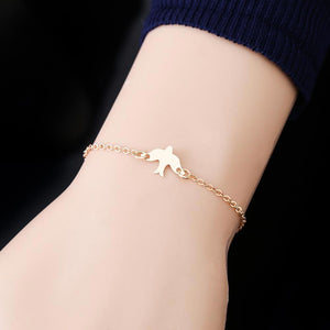 Flying Swallow Charm Bracelet
