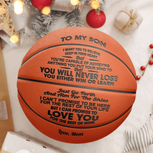 Mom To Son - You Will Never Lose Engraved Basketball