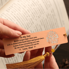 Dad To Son - I Love You Personalized Bookmark With Tassel