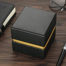 Black square watch box