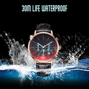 The engraved watch is the waterproof watch which is 30M life waterproof