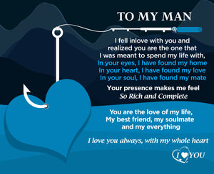 To My Man - You Hooked My Heart Engraved Fishing Lure