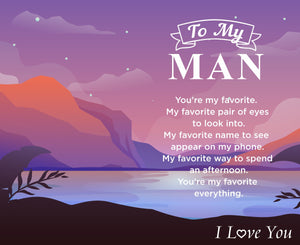 To My Man - You Are My Favorite Catch Engraved Fishing Lure