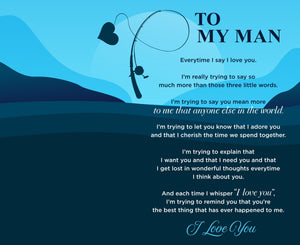 To My Man - You Are The Only Fish In The Sea For Me Engraved Fishing Lure