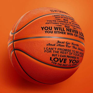 To My Grandson - You Will Never Lose Engraved Basketball