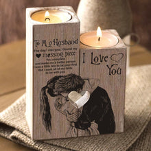 To My Husband - I Love You Wooden Candle Holders
