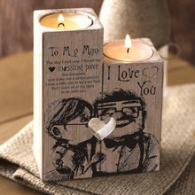 To My Man - I Found My Missing Piece Wooden Candle Holders