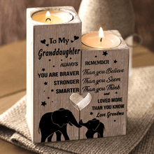 Grandma To Granddaughter - You Are Loved More Wooden Candle Holders