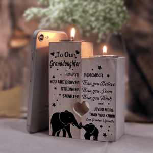 Candle Holders To Our Granddaughter - You Are Loved More Wooden Candle Holders GiveMe-Gifts
