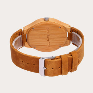 Personalized Loving Photo Engraved Wood Watch