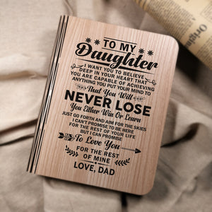 Dad To My Daughter I Can Promise To Love You LED Folding Book Lamp