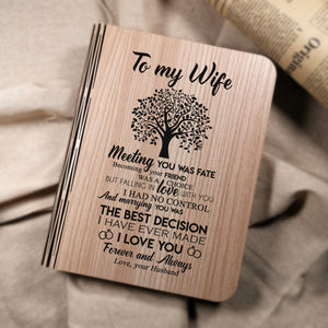 To My Wife - Meeting You Was Fate LED Folding Book Light