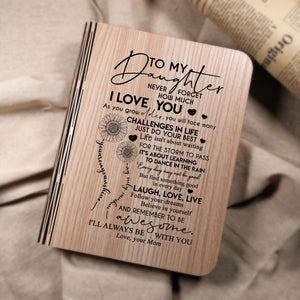 Mom To My Daughter I Will Always Be With You LED Folding Book Lamp