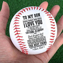 Dad To Son - Just Do Your Best Personalized Baseball