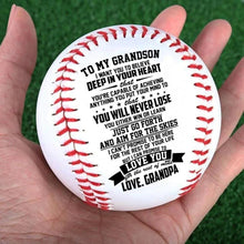 Grandpa To Grandson - You Will Never Lose Personalized Baseball