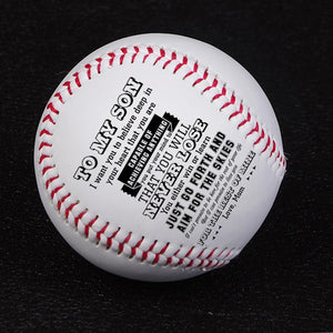 Mom To My Son You Will Never Lose Engraved Baseball