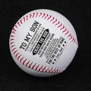 Dad To Son - I Can Promise To Love You Personalized Baseball