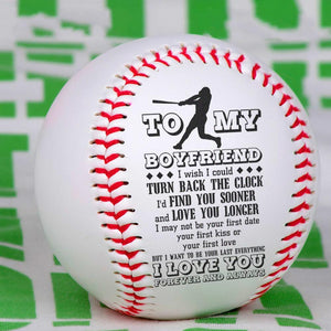 To My Boyfriend - I Love You Personalized Baseball