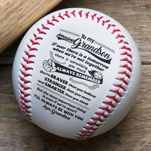 Grandma To Grandson - Always Remember You Are Stronger Personalized Baseball