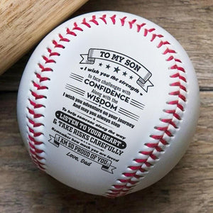 Dad To Son - Listen To Your Heart Personalized Baseball