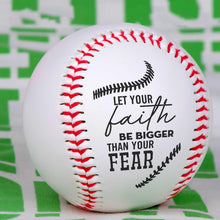 To My Grandson - Your Faith Be Bigger Than Your Fear Personalized Baseball