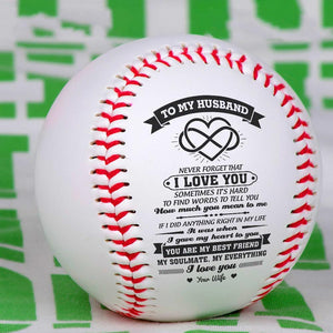 To My Husband - Never Forget That I Love You Personalized Baseball
