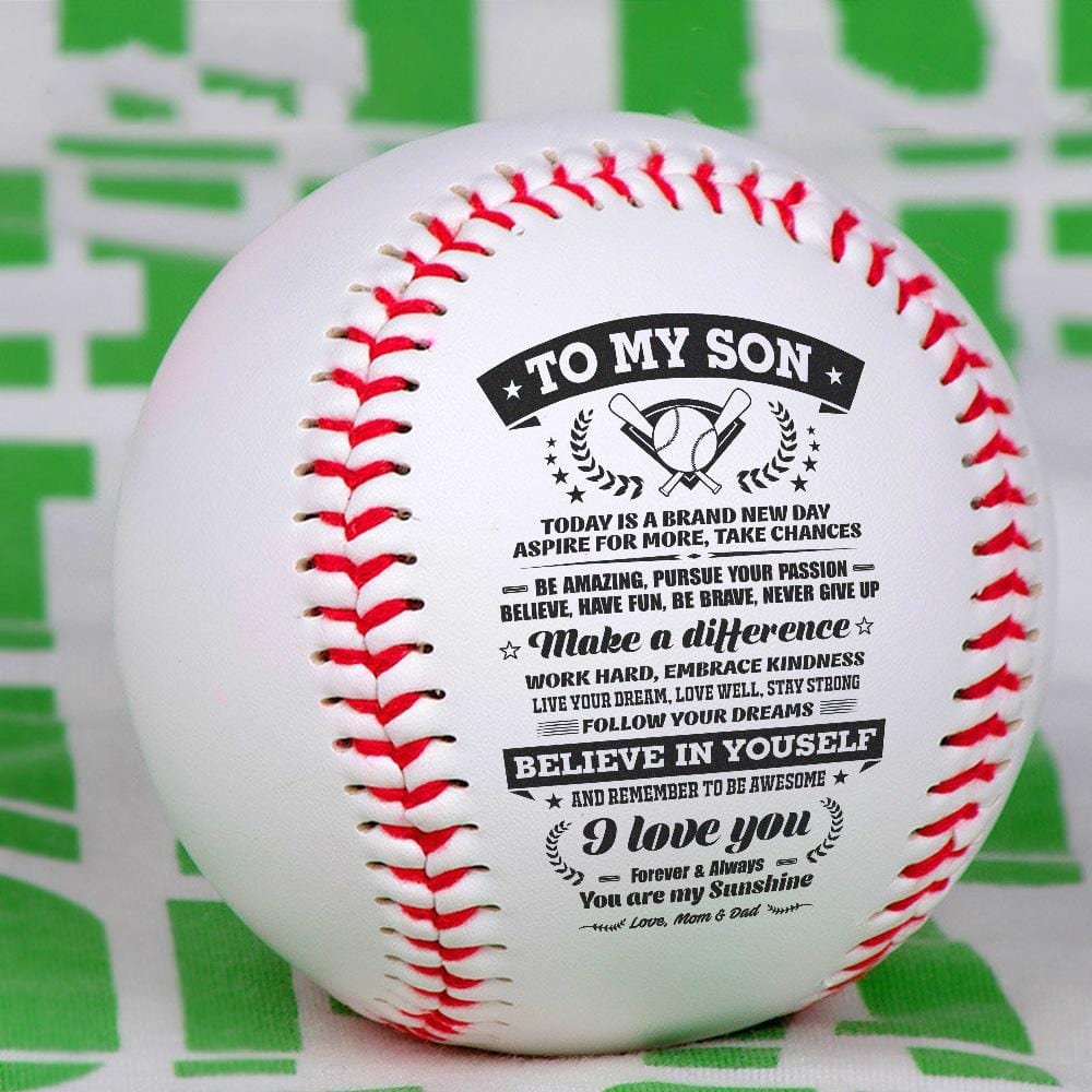 To My Son - You Are My Sunshine Personalized Baseball