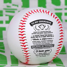 Grandpa To Grandson - You Are My Sunshine Personalized Baseball