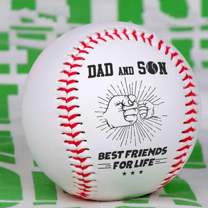 Dad And Son Best Friends For Life Personalized Baseball