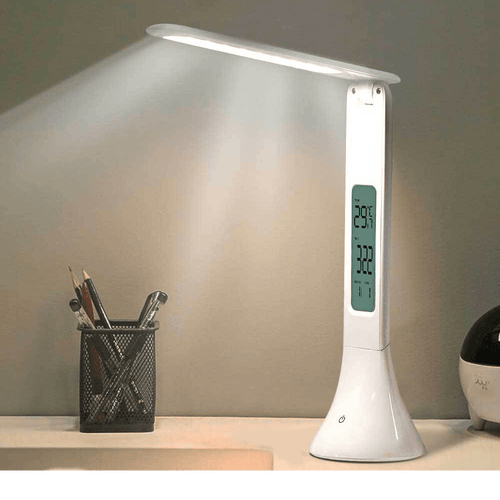 Foldable LED Desk Lamp Alarm Clock