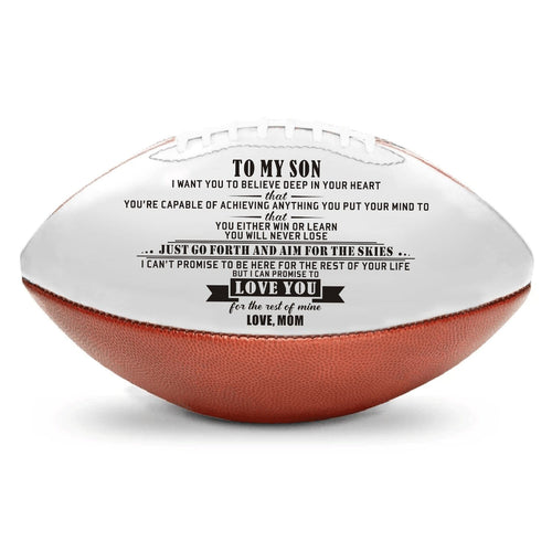American Football Mom To Son - I Can Promise To Love You Engraved American Football GiveMe-Gifts