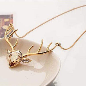 Necklaces Antlers Deer Head Pendant Necklace GiveMe-Gifts
