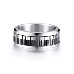 Piano Keyboard Spinner Ring
