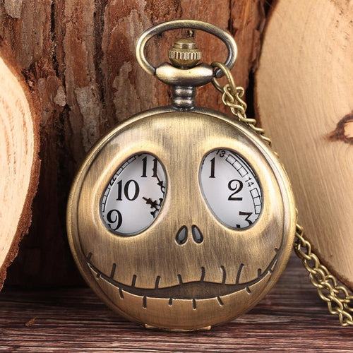 The Nightmare Before Christmas Halloween Vintage Pocket Watch