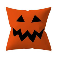 Happy Halloween Decorations Set Throw Pillow Cover