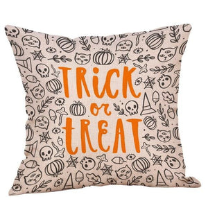Halloween Decorations Set Throw Pillow Cover