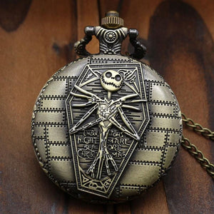 The Nightmare Before Christmas Jack Halloween Vintage Pocket Watch