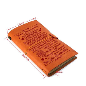 Grandmother To My Granddaughter Just Do Your Best Engraved Leather Journal Diary