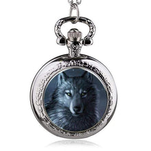 Timber Wolf Silver Vintage Pocket Watch