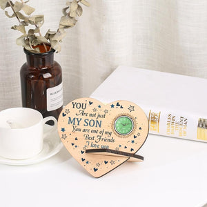 To My Son - I Love You Wooden Table Clock
