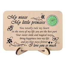 To My Niece - I Love You So Much Wooden Table Clock