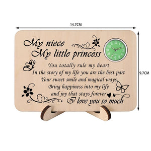 To My Niece I Love You So Much Wooden Table Clock