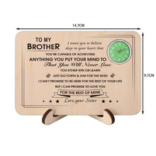 Table Clocks Sister To Brother - You Will Never Lose Wooden Table Clock GiveMe-Gifts