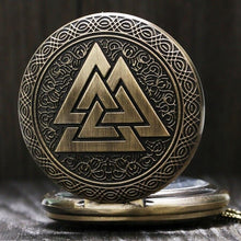 Valknut Norse Mythology Antique Pocket Watch