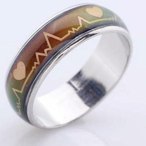 Mood Heartbeat Changing Color Ring